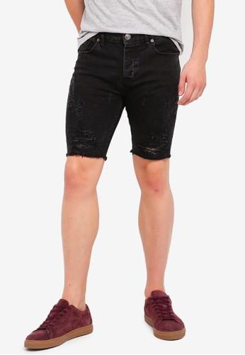 Brave Soul black Elastane Denim Shorts B8550AA3AC9394GS_1