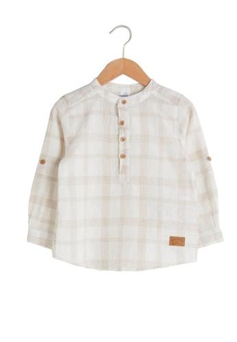 LC Waikiki beige Baby Boy Shirt 413BAKA2ACA229GS_1