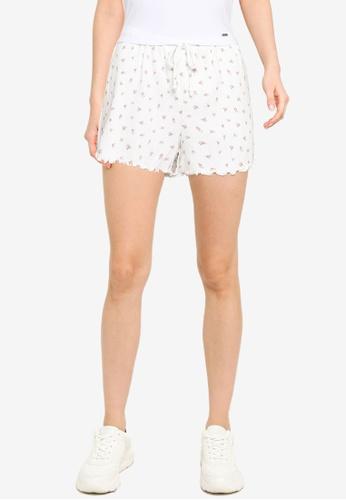 Hollister white Rib Shorts 48DEDAADF93E10GS_1