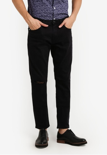 CR7 黑色 Type S窄管牛仔褲 CR532AA84EFJMY_1