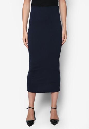 素色高腰裙, 服飾,zalora 鞋評價 裙子