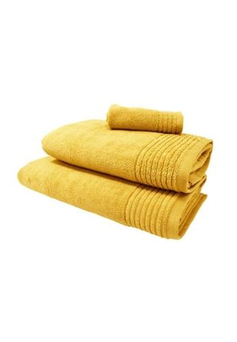 HOOGA yellow Hooga Oversize Towel Chloe Yolk Yellow (Bundle of 2) 316B4HLBCB04FDGS_1