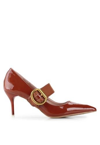 Mandy's brown J'adore Brown Heels MA947SH19TFGID_1