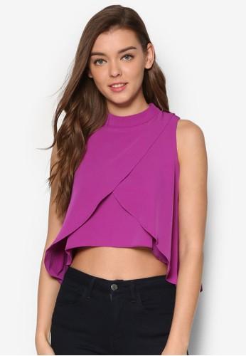 Daphne 層次裹飾無袖T-shirt、 服飾、 上衣MeganeDaphne層次裹飾無袖上衣最新折價