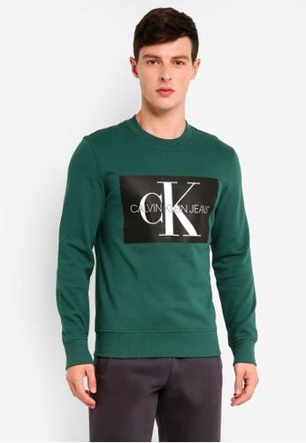 Calvin Klein 多色 A-Monogram Box Reg Crew Neck Sweatshirt - Calvin Klein Jeans 56058AAA4AF651GS_1
