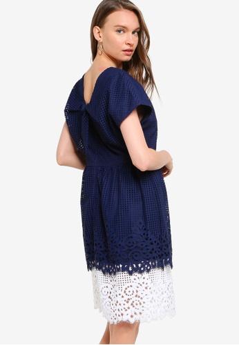 Tommy Hilfiger 藍色 Lace Back Tie Dress 6C7E5AAB58E381GS_1