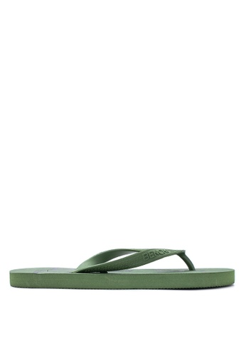 BENCH green Basic Rubber Slippers BE550SH91LUEPH_1