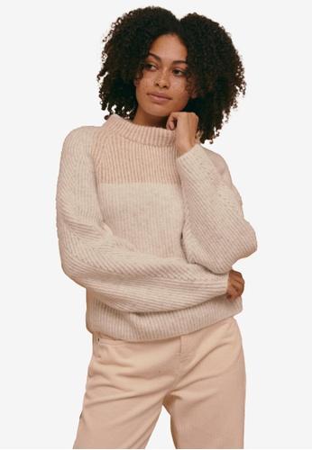 TOPSHOP multi Colour Block Super Soft Dolman Sleeve Knitted Jumper 3CD95AA67703B2GS_1