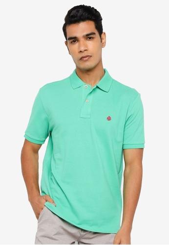 Springfield green Essential Pique Polo Shirt D84C9AA543AB28GS_1