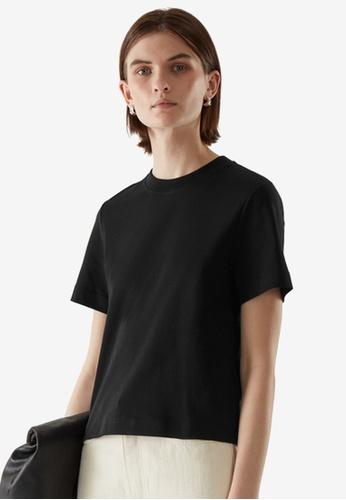 COS black Slim-Fit T-Shirt 934B6AA63477D0GS_1