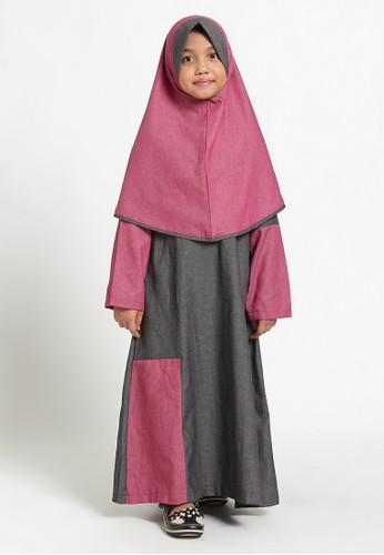 Arafah black and red Gamis Anak Kinbe 14D96KA574C29FGS_1