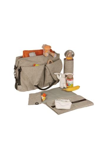 LASSIG Lassig Green Label Neckline Diaper Bag (Choco Mélange) 9C2AEKCE4738C7GS_1