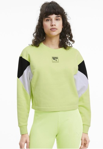 PUMA green Rebel Women's Sweater D12D4AA49815DEGS_1