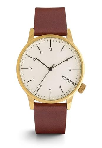 KOMONO brown Winston Regal Chestnut Watch KO163AC0T0SWMY_1