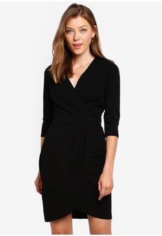 298b77264e Dorothy Perkins black Black Pleat Skirt Bodycon Dress 5162BAA165DDD6GS_1
