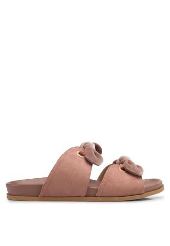 ZALORA pink Double Bow Sandals 24EBDSH1077118GS_1