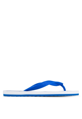 24:01 white and blue Geometric Flip Flops 24841SH17AVQPH_1