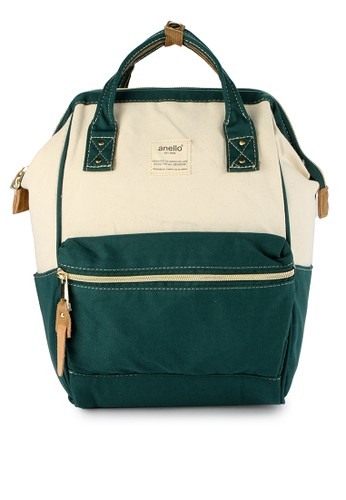 Anello green and multi and beige Denim Backpack (Mini Size) AN804AC0WBWIID_1