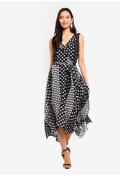 9d166ec588 Wallis Petite Black Ruffle Spot Dress RM 339.00. Sizes 8 10 12 14 16