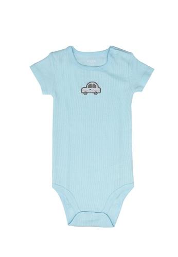 FOX Kids & Baby blue Newborn Short Sleeves Bodysuit 38E61KA85522E4GS_1