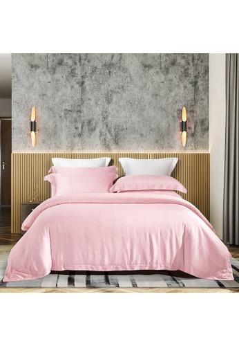 Epitex pink Epitex MD3024-02 Pink 1200TC Modal Dobby Bedset - Bedsheet (w quilt cover) 06445HL06EB890GS_1