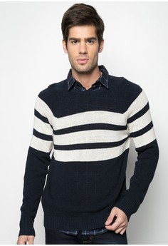 Raglan Mariners Striped Crew T-shirt