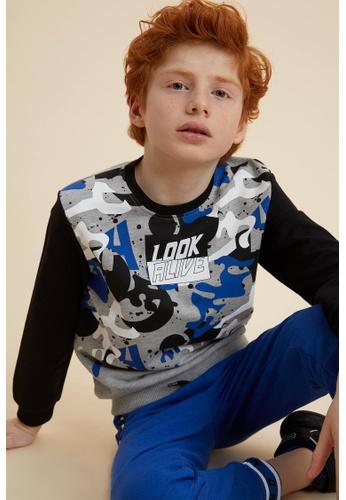 DeFacto grey Boy Knitted Sweat Shirt 923A5KAA2D6471GS_1