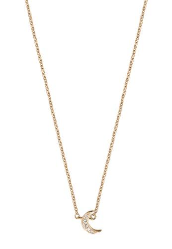 Esprit gold ESPRIT [Moon Pave] RoseGold Sterling Silver Necklace (42 cm + 3 cm extension) 91628AC1D80EABGS_1