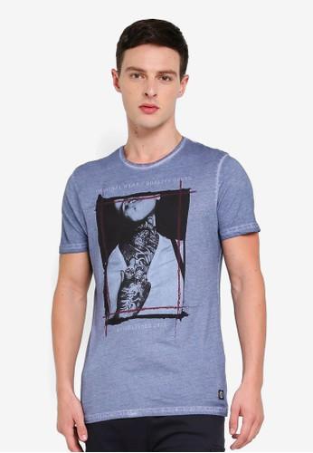 Brave Soul blue Crew Neck T-Shirt A0E57AAD9F7F85GS_1