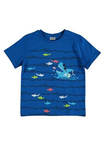 LC Waikiki blue Boy's Printed Cotton T-Shirt 337D0KAF4FFD74GS_1
