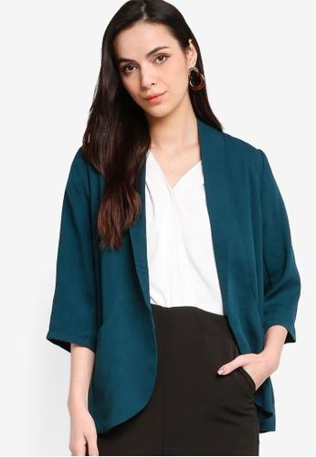 ZALORA WORK green Shawl Collar Blazer 3B349AA7123762GS_1