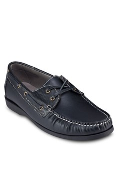 Parforated Lace Guard Boat Shoes