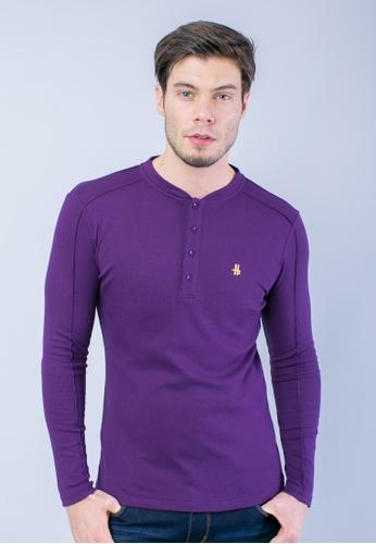 H2 by LEEYANARAHMAN purple Signature Shirt in Purple LE767AA0T0PSMY_1
