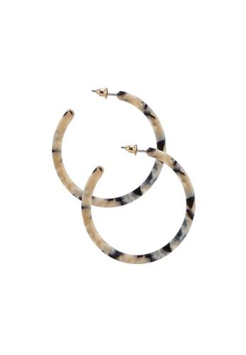Red's Revenge beige Bella Hoop Resin Earrings E41F3AC65075A5GS_1