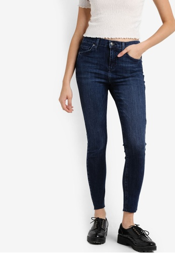 TOPSHOP blue Jamie Mid Rise Jeans TO412AA00RVRMY_1