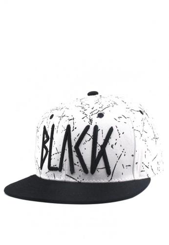 Cap City International white BLVCK Unisex Hip Hop Snapback Cap CA260AC0JG6DPH_1