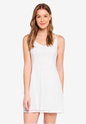 Hollister white Bare Lace Fit and Flare Dress 5EAE5AA8F4E6E1GS_1