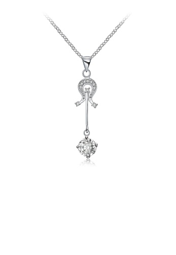 Glamorousky white Fashion Violin Pendant with White Austrian Element Crystal and Necklace B3516AC1695F17GS_1