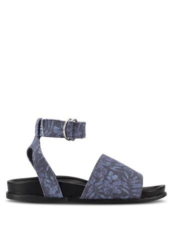 Something Borrowed blue Ankle Cuff Footbed Sandals 9DC3CSH32EF8FFGS_1