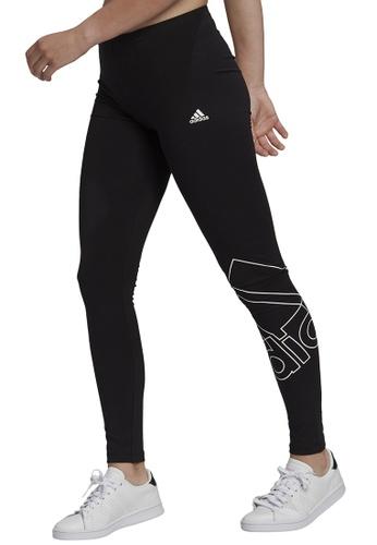 ADIDAS 黑色 essentials logo leggings FB61EAA3C39179GS_1