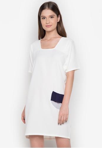 NEW ESSENTIALS white Ivar Aseron Pocket Dress NE239AA0JD2NPH_1