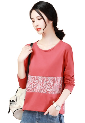 A-IN GIRLS white and red Fashion Print Round Neck T-Shirt 8806EAA535F0FEGS_1