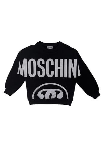 MOSCHINO BABY KID TEEN black MOSCHINO TEEN BOYS SWEATSHIRT C317CKA0DC44F6GS_1