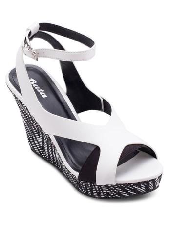Whitney 鏤空繞踝esprit旗艦店楔型涼鞋, 韓系時尚, 梳妝