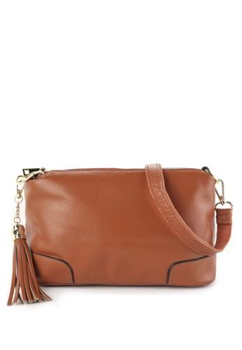 LOMBARDI GIOVANNI brown Genuine Leather Sling Bag 88C99AC801096BGS_1