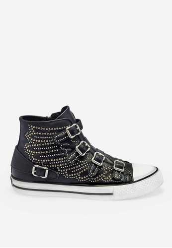 ASH Verso - Black Rivets embroidery High-Top Sneakers D2BF4SH07D045BGS_1