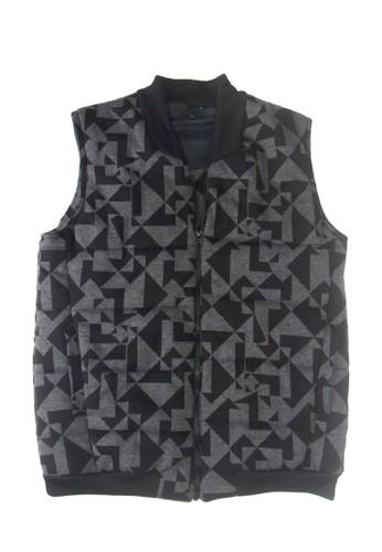 幾何印花鋪棉背心, 服飾esprit台灣, 背心外套