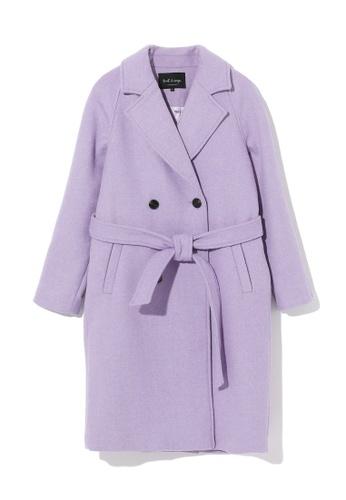 tout à coup purple Woolen oversized peacoat 1983CAA1CB0FF9GS_1