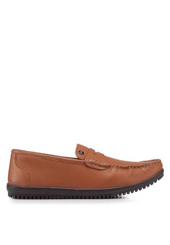Carlton London brown Slip On Loafers B3107SH6AE8862GS_1