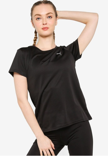 PUMA black Favourite Short Sleeve Running Tee 6CDE7AAEF9C779GS_1